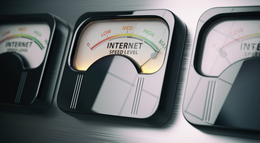 Image of internet speed gauge