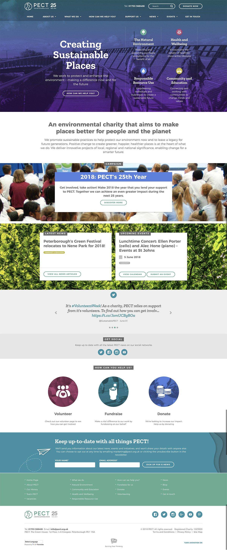 PECT Desktop Homepage