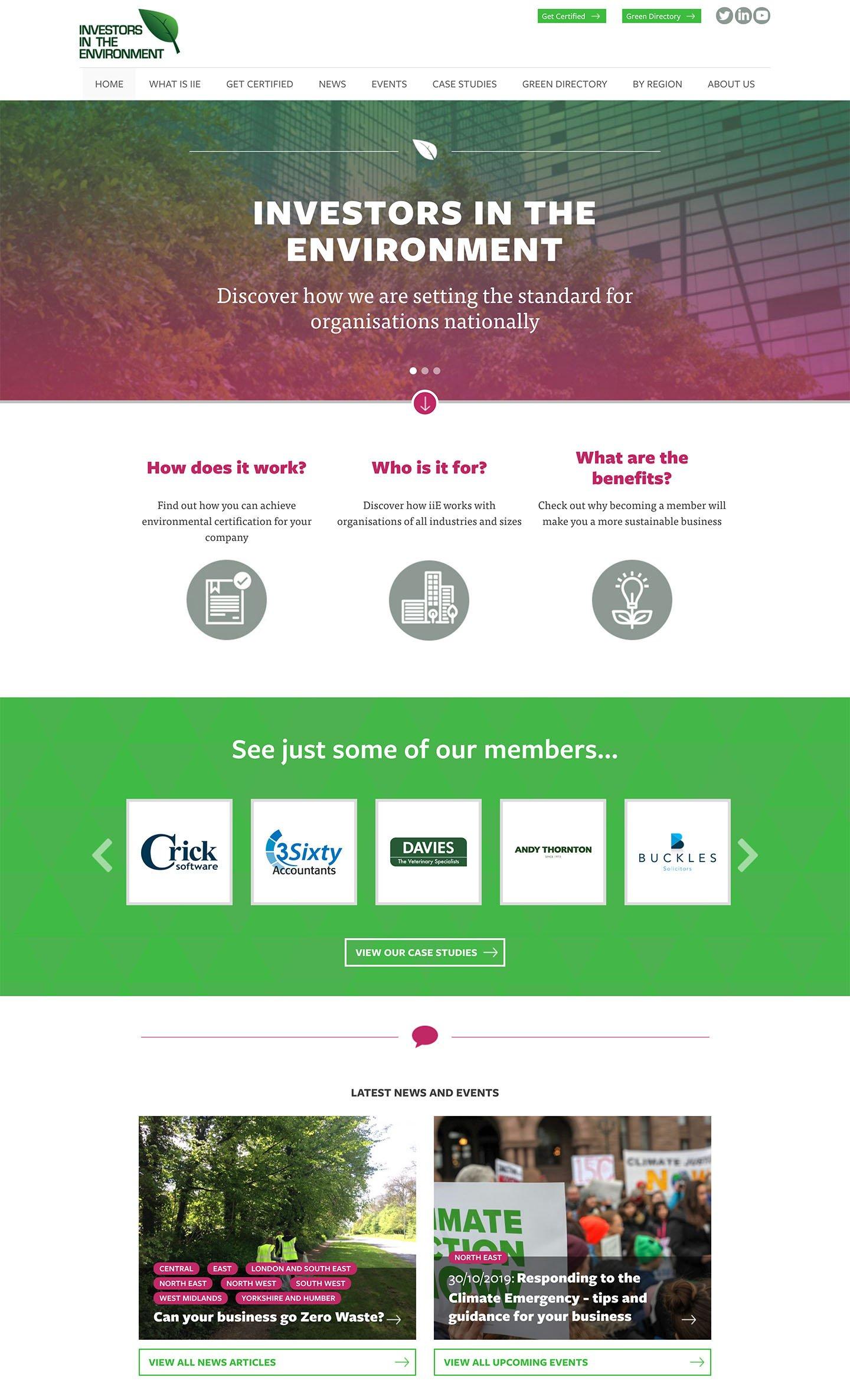 IIE Homepage Screenshot