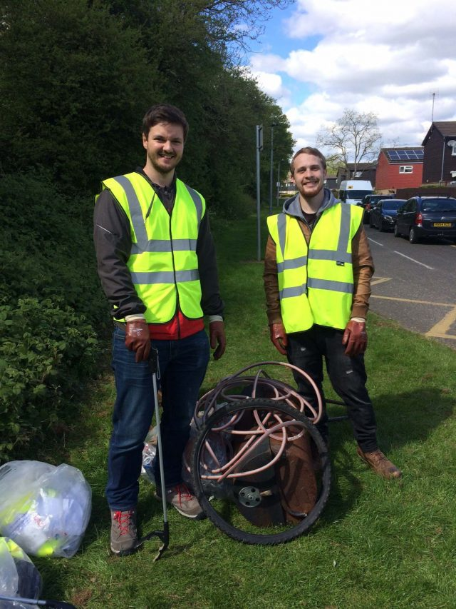 Matt and Craig Litter Picking